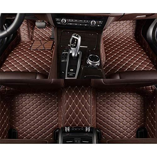 ROYAL STAR TY Encargo del pie del automóvil de la Cubierta de la Alfombra del Coche Auto tapetes for BMW Serie 3 E30 E36 E46 E90 E91 E92 E93 F30 2000-2018 (Color Name : Brown)