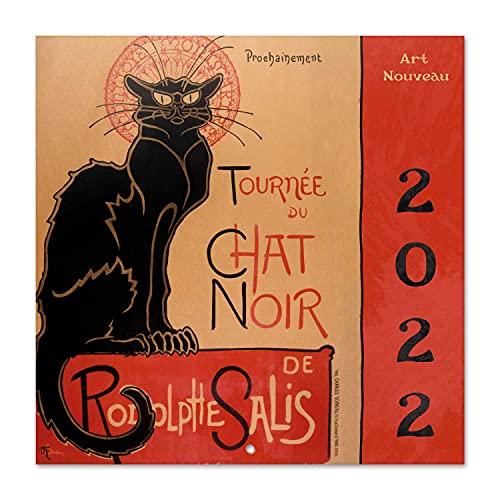 Calendario Art Nouveau 2022 - Calendario 2022 pared - Calendario 16 meses - Calendario 2021 2022│ Calendario de pared 2021 2022 - Calendario mensual - Producto con licencia oficial