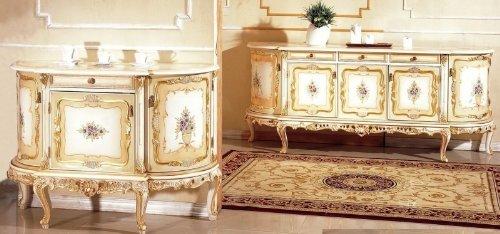 LouisXV Barock Sideboard Venetian Barock Vp9933-5 Antik Stil Massivholz. Replizierte Antiquitäten Buche (Ahorn, Mahagoni, Eiche) Antikmessing Beschläge, furniert, intarsiert