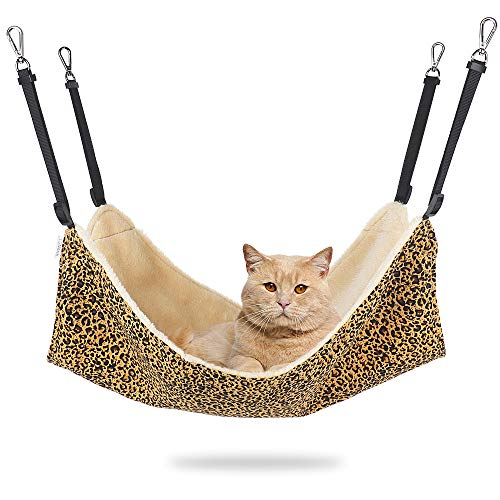 EONMIR Cat Hammock for Cage, Soft Pet Bed Fit Ferret, Kitten, Puppy, Small Dog,...