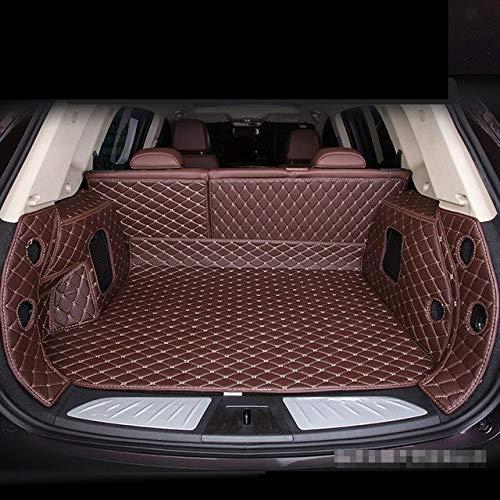 Qgg Personalizados Personal esteras Tronco de Coche de Cuero Fit for BMW X1 X2 X3 X5 E84 F25 F26 X4 E70 5seat 7seat F15 X6 E71 X6 F16 F83 F82 M4, alfombras de Cuero de Alta Resistencia