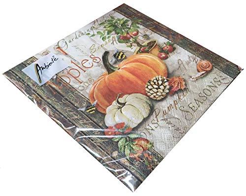 Papier Servietten Autumn Gardening Lunch Party Fest Ca. 33x33cm fuer Herbst, Winter, Weihnachten