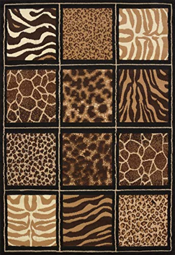 "United Weavers of America Legends Collection Safari Square Rug, 5'3"" by 7'2"""