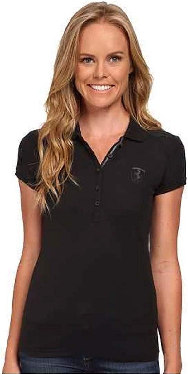 PUMA Women's Ferrari Polo Shirt 569382-01, Moonless Night, XS
