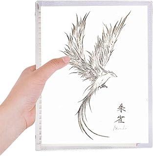 猿子スケッチfuying鳥不死鳥の絵 硬質プラスチックルーズリーフノートノート