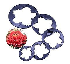 stronerliou 46 PCS Flower Fondant Cake Sugarcraft Decorating Kit Cutters Tools Set di stampi