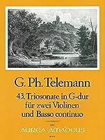 TELEMANN - Trio Sonata en Sol Mayor (TWV:42/g11) para 2 Violines y Piano (Joelson)