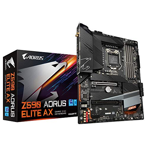 Gigabyte Z590 AORUS Elite AX ATX Motherboard für Intel LGA 1200 CPUs