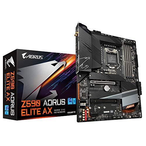 Gigabyte Z590 AORUS ELITE AX ATX Motherboard for Intel LGA 1200 CPUs
