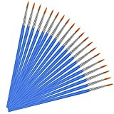 Paint Brushes for Acrylic Painting 20 Pack Round Art Paintbrushes Pointed Paint Brushes for Kids/Adults/Artist, Painting Brush Kit Acrylic Paint Brush for Watercolor Oil, Face, Nail, Canvas, Wood