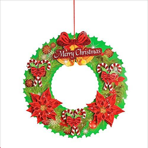 cczxfcc 2 stuks Kerstmis sneeuwpop bloem oude man wandelstok ornament driedimensionale strooideel slinger 3D slinger hangen direct