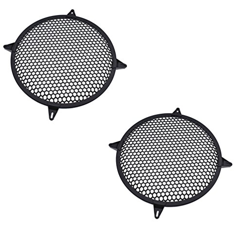 Hongma 2 Stück 12 Zoll Lautsprecher Gitter Grill Abdeckung Schwarz Außendurchmesser 31cm