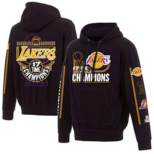 Lakers - Sudadera con capucha para hombre, 2020, campeón de los Lakers de baloncesto y entrenamiento deportivo, casual, resistente al viento y cálido