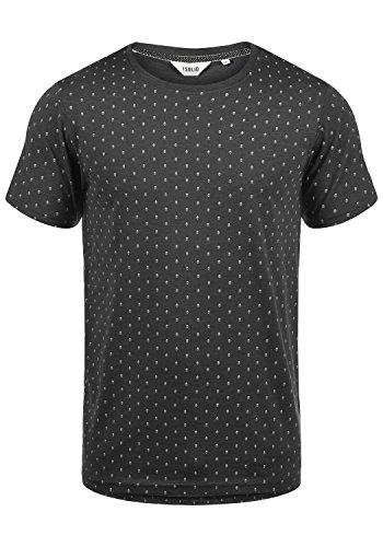 !Solid Aaron Herren T-Shirt Kurzarm Shirt Mit Rundhals-Ausschnitt Und All-Over-Print, Größe:XL, Farbe:Dark Grey Melange (8288)