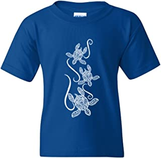 Xekia Hawaiian Turtle Sea Turtles Unisex Youth T-Shirt Tee