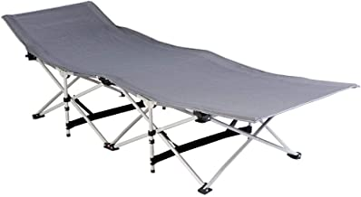 Foldable Camping and Trekking Bed in Canvas Bag - Gray / Gray