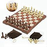 Cfbcc Nueva ajedrez Juego de ajedrez magnético Doblado Junta 4 Tamaño magnética Placa Torneo portátil de Viaje Juego de ajedrez Jugando Internacional Regalo (Color : XL 3520 )