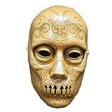 QJXSAN Halloween Horror Maske Harz Maske Todesser Maske Zauberstab Harz Handwerk