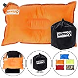 ONWEGO Camping Pillow/Small Inflatable Pillow- 20in x 12in, 10.5oz, Self Inflating Air Pillow, Lightweight -...