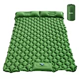 HOMCA Sleeping Pad for Camping, Hand or Foot Self Inflating Camping Mat Durable Waterproof Backpacking Sleeping Pad for Tent Hiking Camp Travel (Green)