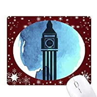ビッグベンロンドン・イングランド英国英国 オフィス用雪ゴムマウスパッド