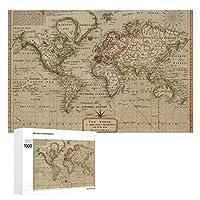 INOV 世界(1814年) ヴィンテージ 地図 ジグソーパズル 木製パズル 1000ピース インテリア 集中力 75cm*50cm 楽しい ギフト プレゼント