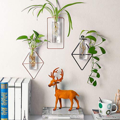 BAOYOUNI 壁掛け 花瓶 ミニ花器 ガラス製