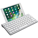 OMOTON Wireless Deutsche Bluetooth Tastatur / Keyboard (ultraschlanke) für alles Apple iPad Air, iPad Pro,iPad Mini,iPhone xs/x,iPhone 8 /...