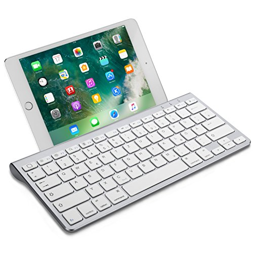mächtig OMOTON Deutsche kabellose Bluetooth-Tastatur (Ultra Slim) für alle Apple iPad Air,…