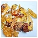 YINGNBH Cristal áspero Orna de Mineral Crudo Natural Adornos de enseñanza Enseñanza Pequeñas Piezas de Cera de Abejas ámbar Resina Natural (Color : 30g)