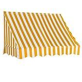 Festnight 150x120 cm Toldo para Bar/Accesorios Casa Jardín Terraza para Salón, Tienda o Cualquier Otro Establecimiento, Naranja y Blanco