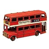 秋月貿易 置物 ロンドンバス W16.5×D5.5×H8.5cm ミニ ヴィンテージカー 0410A-7146