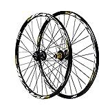 Ciclismo Wheels 27,5 Pulgadas,Eje Barril de 15/12mm Juego de Ruedas Bicicleta de Montaña Freno de Disco 7/8/9/10/11 Velocidad (Color : Yellow, Size : 27.5in/20mmaxis)