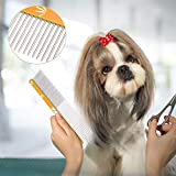 Ong Herramienta de peluquería Duradera para Mascotas con Doble Peine, Peine para Mascotas, para Perros(Gold)