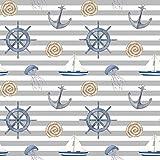 Stoff Meterware Sail Away Anker Boot Seil - 1 Meter, Deko,