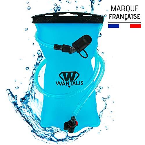 Wantalis PremiumFlask Poche à Eau Hydratation, Turquoise, 1.5 l