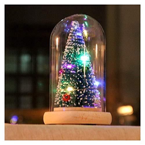 Caja de música Árbol de Navidad Cristal Luminoso Cedro Caja de música...