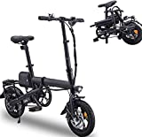 RDJM Bici electrica Bicicleta eléctrica Plegable Ligero Plegable compacta E-Bici, Ruedas de 12 Pulgadas, pedaleo asistido Unisex de Bicicletas, Velocidad máxima 25 km/h, de fácil Transporte Tienda f
