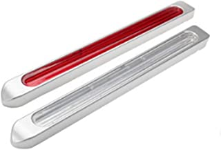シーケンシャル ウインカー LED リア マーカー ランプ 12 / 24V 兼用 クリア レンズ 流れる イエロー アンバー ブルー 発光
