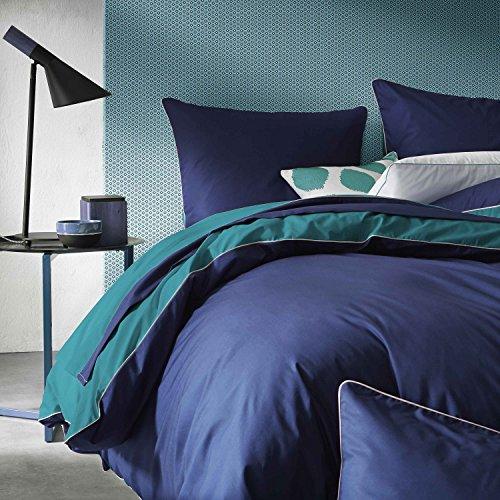 BLANC CERISE Housse de Couette Bicolore en Percale 240x220 cm