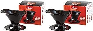 Melitta Ready Set Joe Single Cup Coffee Brewer, Black - 2 Pack