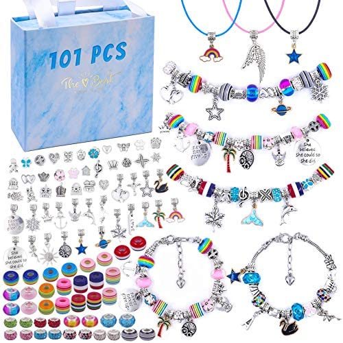 101 Pcs DIY Bracelet Making Kit Charms Necklace Jewelry Making Supplies Beads DIY Craft Gift product image