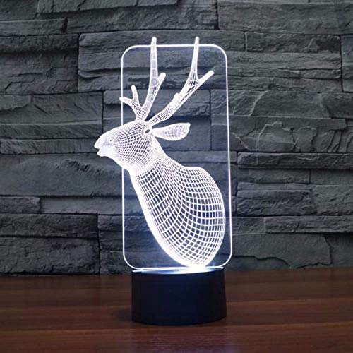 LBMTFFFFFF Luces de Lámpara Led Gradiente Ilusión Luz Interruptor Táctil Lámpara de Mesa Led Creativa Luz de Noche 3D
