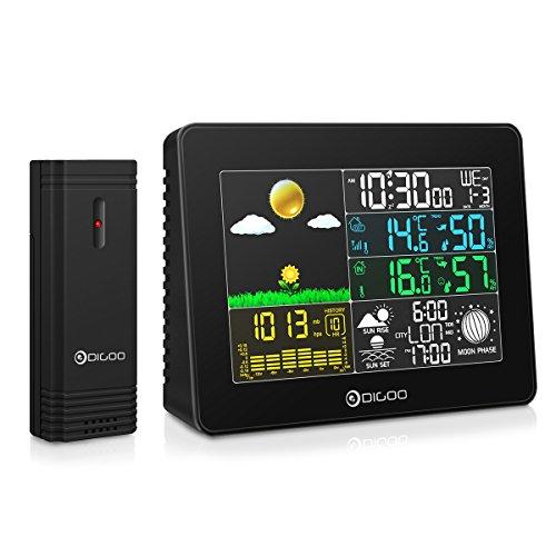 Digoo DG-TH8868 - Stazione meteo da interno / esterno, con sensore umidità / barometro / igrometro / termometro, wireless, con display digitale USB
