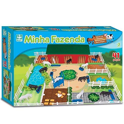 Jogo Minha Fazenda, NIG Brinquedos, 41 Peças