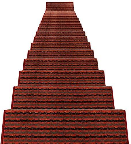 TALIKE Tappeto Passo Pad Mats Scala Tappeti 5 Pezzi autoadesive pedate Skid Antiscivolo Backup Indoor Carpet pedate (Color : C-1pc, Size : 64x(24+3) cm)