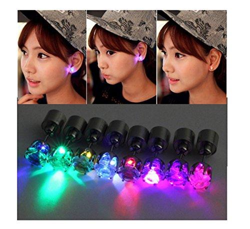 ILOVEDIY 2x LED Ohrringe Leucht Ohrstecker Ohrringe leuchtende Ohringe mit Licht Halloween Weihnachten