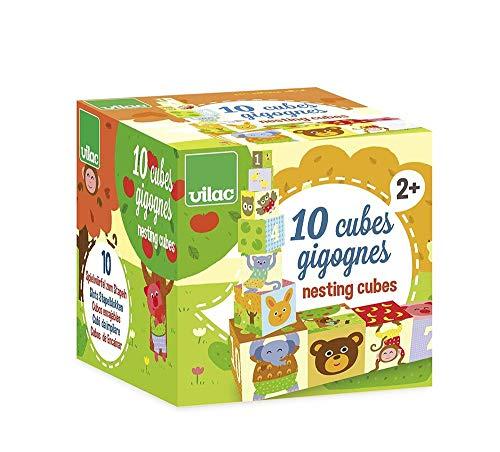 Vilac - 4600 - Jouet Premier Age - 10 Cubes Gigognes Mélusine