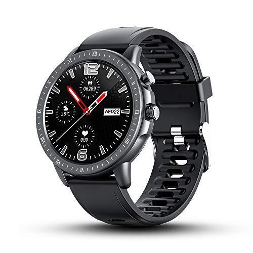BYTTRON Smartwatch, 3,3 cm (1,3 Zoll) voller Touchscreen, wasserdicht, Fitness-Tracker mit Herzfrequenz, Schlaf-Tracker, Schrittzähler, SMS, Anrufbenachrichtigung für iOS- und Android-Handys