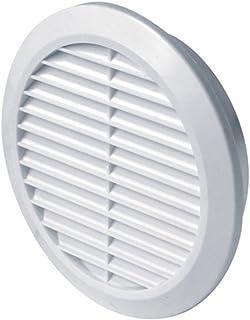 abluftgitter Lüftungsgitter Durchmesser 100 mm rund weiß Kunststoff Insektennetz Abluftgitter Zuluft Abluft Gitter Lüftung T30